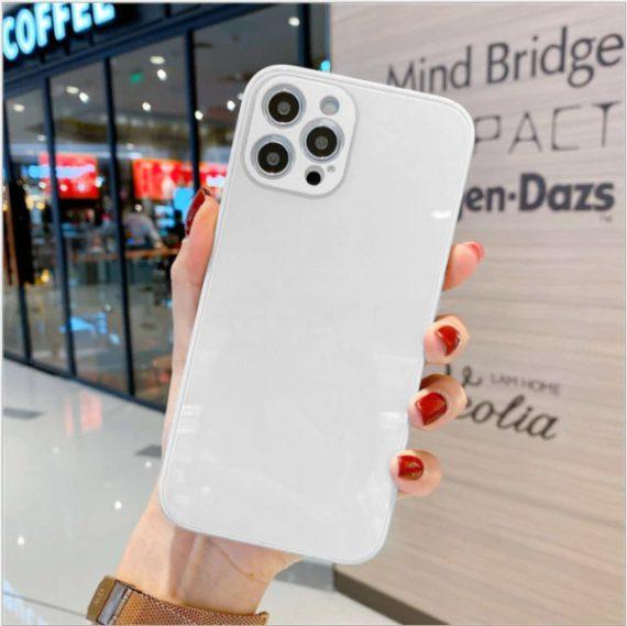 case ihphone 12 pro szklo hartowane biały kolor 6
