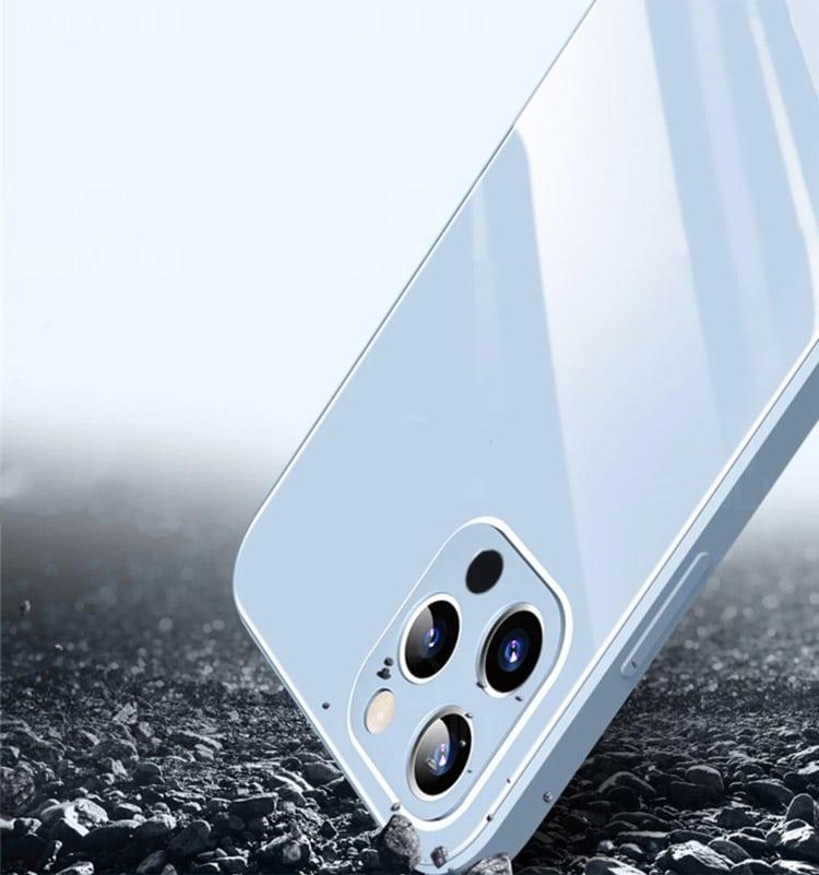 case ihphone 12 pro szklo hartowane niebieski kolor 2