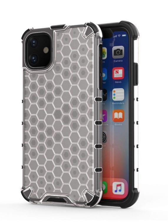 pol pl honeycomb etui pancerny pokrowiec z zelowa ramka iphone 11 przezroczysty 55390 1