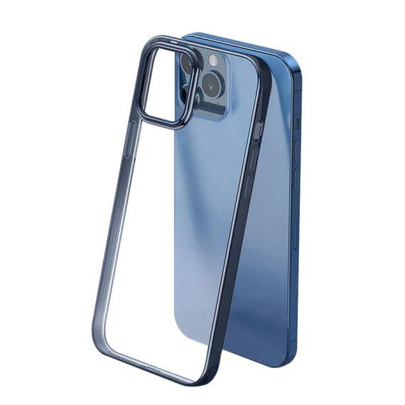Etui do iPhone 12 Pro Shock Proof przeźroczyste, wzmocniona ramka w pacyficznym kolorze