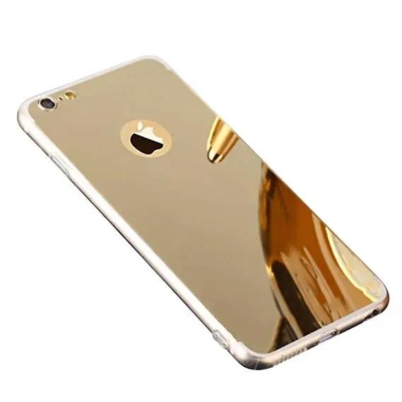 etui na iphone 7 8 se złote lustrzane