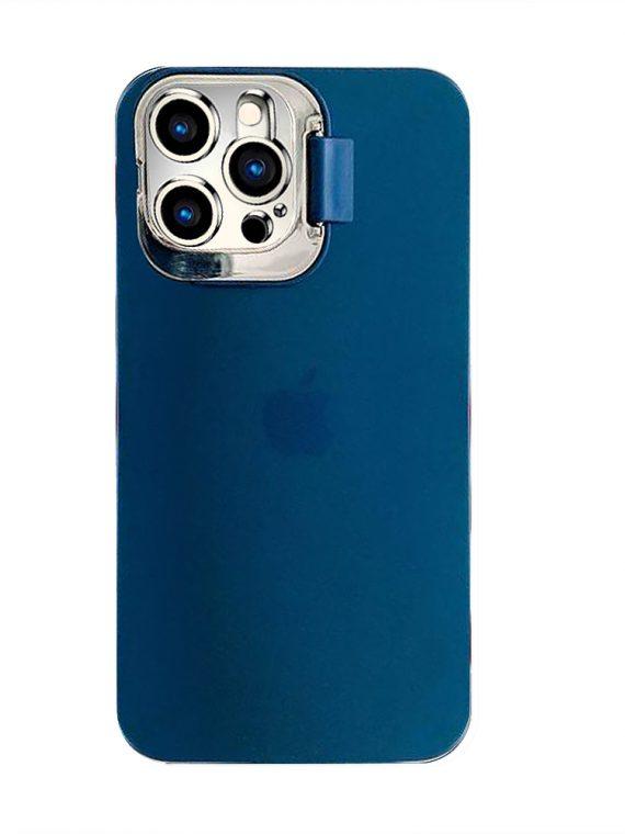 iphone12 pro klapka matowe granatowe