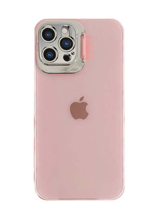 iphone12 pro klapka matowe rozowe