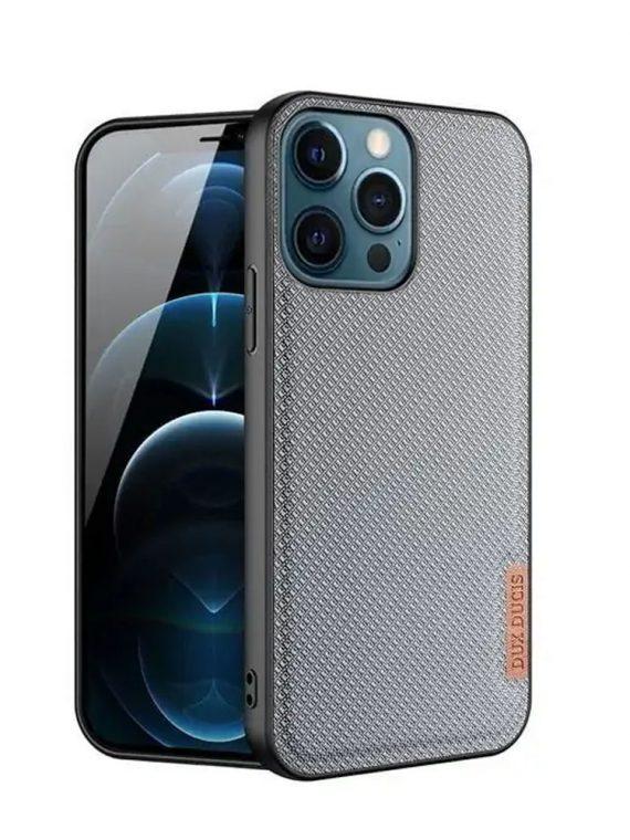 etui do iphone 13 pro materiałowe niebrudzące niebieskie eleganckie